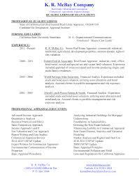 Quantitative Analyst Resume K R Mcbay Co Skilled Appraisers