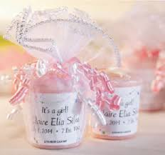 candle baby shower favors personalized candles yankee candle