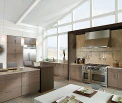 White Oak Kitchen Cabinets With Gloss White Accents Kitchen Craft - White oak kitchen cabinets