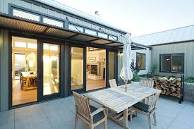 Patio Metal Roof by Corrugated Metal Awning Design Patio Farmhouse With Metal Roof