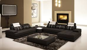 White Leather Coffee Table Casa 5005d Modern Black And White Leather Sectional Sofa W Coffee