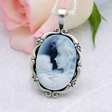 mothers necklace forever loved mothers necklace with genuine agate cameo of