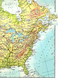 Physical Map Of Canada by Road Map Of Eastern Usa And Canada 30 Detailed With Road Map Of