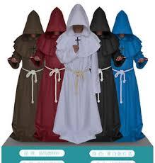 druidic robes renaissance monk friar priest druid hooded robe cloak