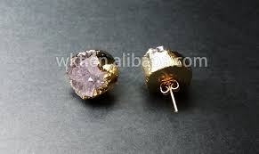 druzy stud earrings new tiny druzy earrings druzy stud earrings gold plated