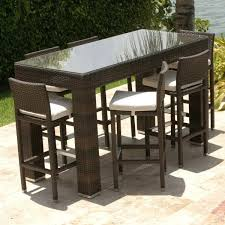 pub patio furniture bar outdoor tall chairs for style design 4 bar