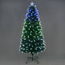 starbright fibre optic tree with green white blue