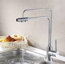 Kitchen Filter Faucet Contemporary 3 Ways Water Filter Flow Kitchen Faucet 0334