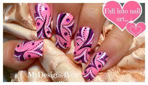 abstract nail art tutorial purple and pink wonderland nails
