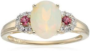 opal stones rings images 10k yellow gold ethiopian opal pink tourmaline and diamond 3 jpg