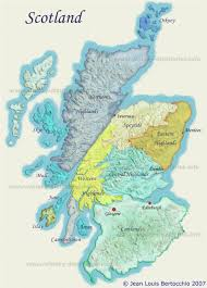 Map Of Glasgow Scotland Map Of Scotch Whisky Distilleries And Regions Scotland Maps