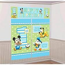 mickey mouse 1st birthday amscan disney baby mickey mouse 1st birthday