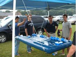 Pool Beer Pong Table by Inflatable Floating Beer Pong Table Chugbuzz