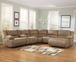 signature design by ashley hogan mocha 6 piece motion sectional