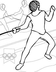 fencing coloring page handipoints