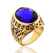 men gold ring floral sapphire gold ring for men atperrys