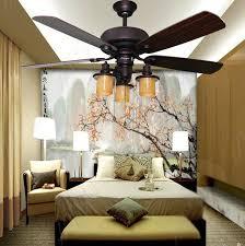 52inch american fashion loft led ceiling fan light led fan light
