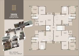 3 Bhk Apartment Floor Plan by Monalisa Manjalpur In Vadodara 2 Bhk 3 Bhk Luxurious Flats And