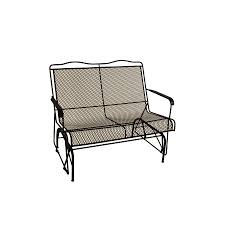 Black Rod Iron Patio Furniture Shop Davenport Black Wrought Iron Patio Rocking Chair At Lowes Com