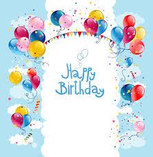 colored balloon summer birthday cards vector 04 vector birthday