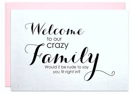 card to groom from welcome to the family wedding engagement card party for