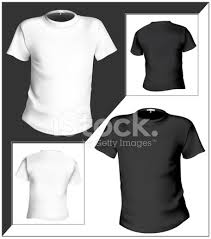 t shirt design template front u0026 black and stock vector