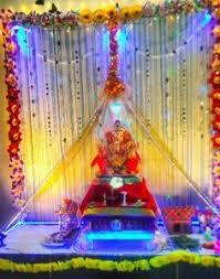 Indian Engagement Decoration Ideas Home Ganpati Decoration Ideas At Home With Theme Ganpati Decor