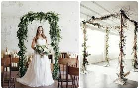 chuppah poles organic green wedding decor with vines or olive branches