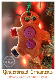 gingerbread ornaments for preschoolers