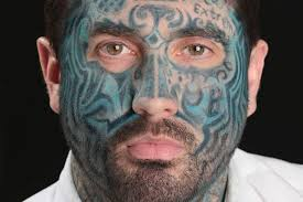 mirror man finds out what life u0027s like with full face tattoo and