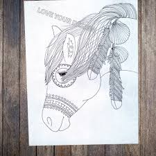 wild spirit horse coloring book zen doodle coloring pages for