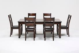 rocco 7 piece extension dining set living spaces rocco 7 piece extension dining set 360
