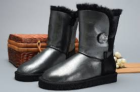 womens ugg boots with buttons ugg 1002174 bailey button i do boots black silver