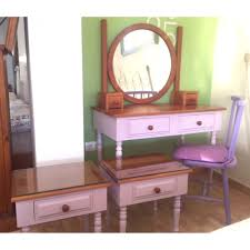 Pine Vanity Table with Bedroom Light Purple Ideas Using Collection With Vanity Table