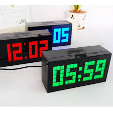 2017 big large jumbo led snooze alarm clock display wall led
