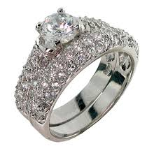kay jewelers clearance inspired diamond cubic zirconia wedding ring set eve u0027s addiction