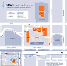 downtown campus utsa university of texas at san antonio downtown campus map
