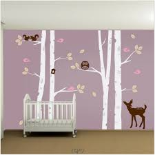 tree wall painting black white and gold bedroom kids room design