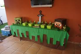 halloween city decorations minecraft easy table decor kid bday pinterest birthdays and