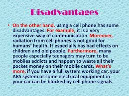essay about cell phones disadvantages essay topicsdisadvantages on the other hand using a cell phone has