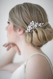 bridal hair combs bridal hair comb pearl powder blue bijoux