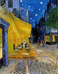 cafe terrace at night famous art