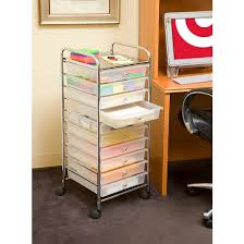 10 Drawer Cabinet Seville Classics 10 Drawer Organizer Cart Frosted White Target