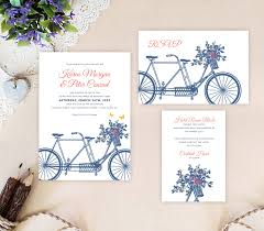 wedding invitation sets bicycle wedding invitation sets lemonwedding