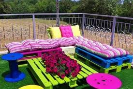 How To Make Pallet Patio Furniture by Garden Furniture Made From Cable Drums And Wood Pallets Actually