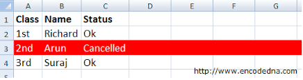 highlight an entire row in excel based on a cell value using vba
