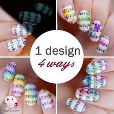 piggieluv 1 nail art design 4 ways video tutorial