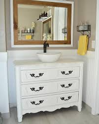 Upcycled Vanity Table Country Chic Upcycled Bathroom Vanity Diyideacenter Com