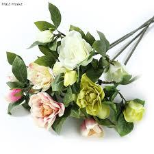 aliexpress com buy 1 bunch artificial flower gardenia bouquet