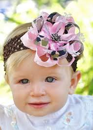 infant hair bows pink camo hair bow baby bow infant headband hairbow for